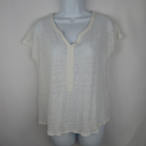 Lucky Brand Linen Sheer Top size S